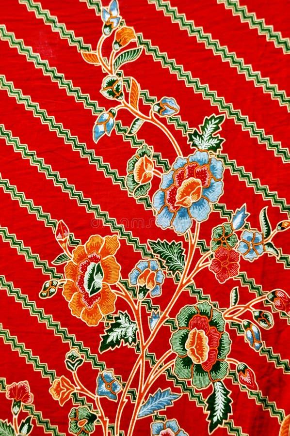蜡染布,印度尼西亚蜡染布布裙,主题蜡染布布料,印度尼西亚蜡染布样式 免版税库存图片