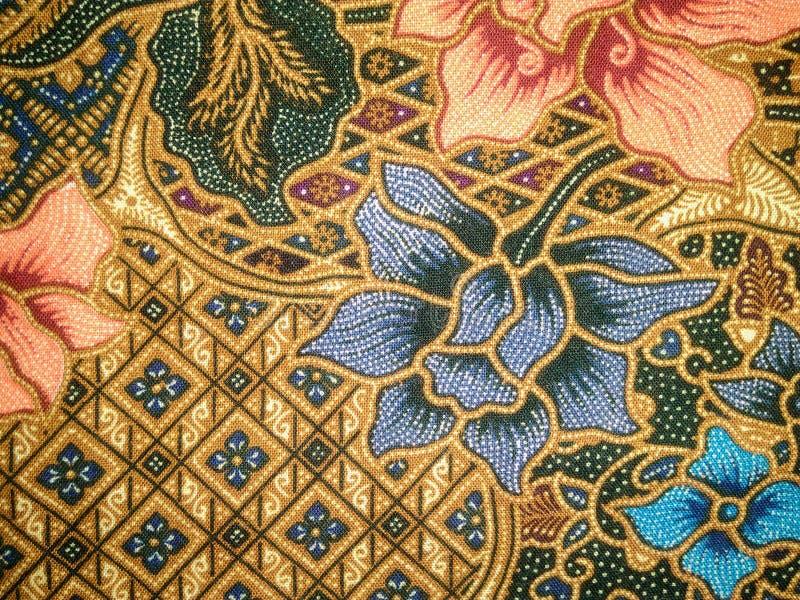 蜡染布织品艺术 库存图片
