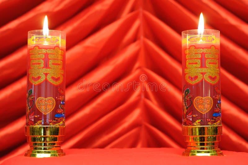 蜡烛双红色 免版税库存照片