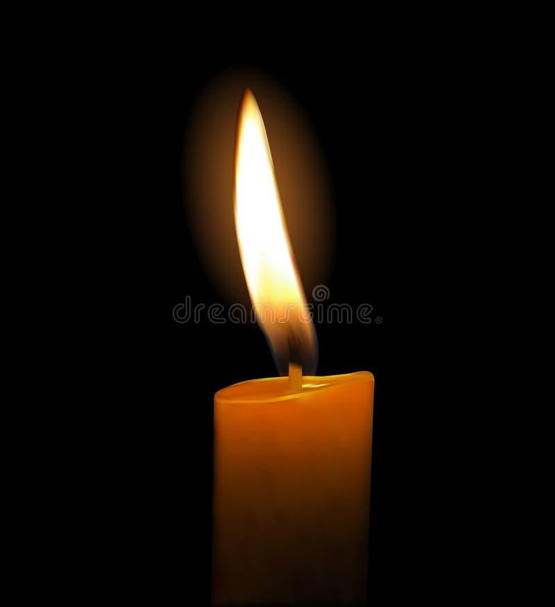 蜡烛发光 皇族释放例证