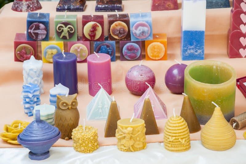 蜡烛各种各样的形状 库存照片