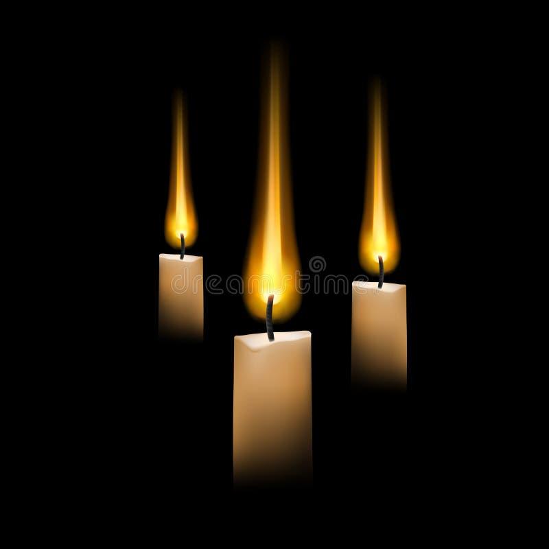 蜡烛向量 向量例证