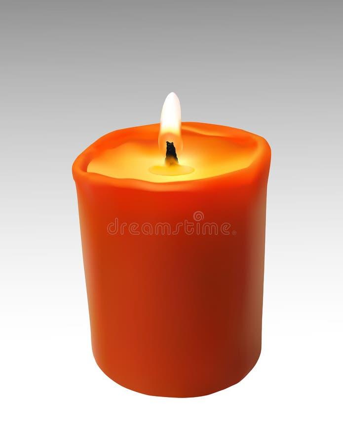 蜡烛向量 皇族释放例证