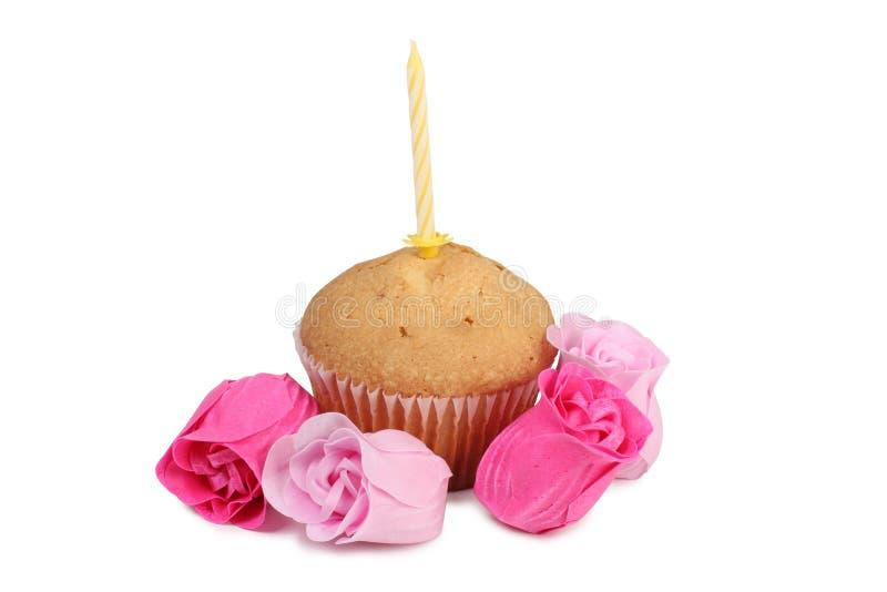蜡烛和蛋糕三 库存照片