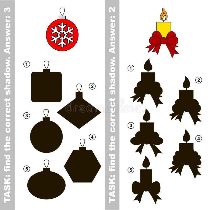 蜡烛和玻璃球 发现真实的正确阴影 库存例证