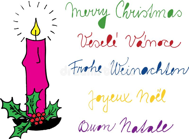 蜡烛圣诞节 库存照片