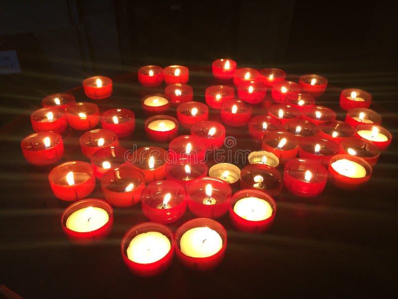 蜡烛在里斯本 库存图片