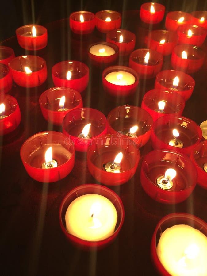 蜡烛在里斯本 免版税图库摄影