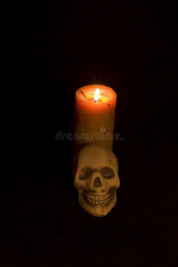 蜡烛头骨伏都教 库存图片