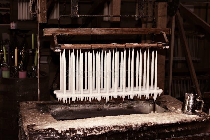 蜡烛工厂做 库存图片