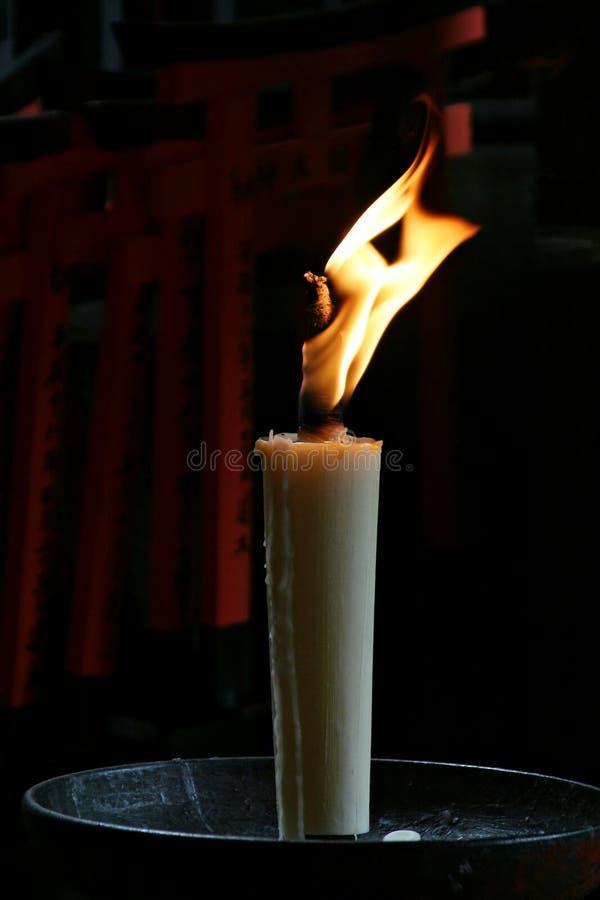 蜡烛日本之神道教 免版税库存图片