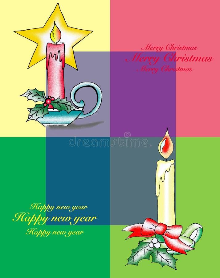 蜡烛有色的背景 免版税库存照片
