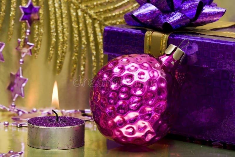 蜡烛欢乐新年度 库存图片