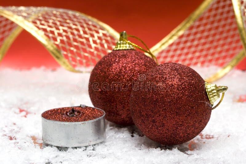 蜡烛欢乐新年度 免版税图库摄影