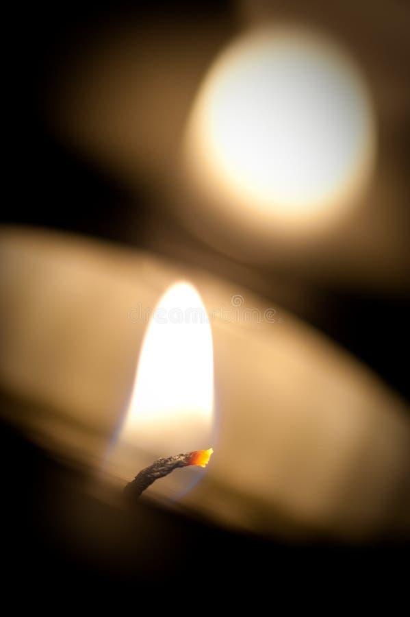 蜡烛清淡的茶 免版税库存图片