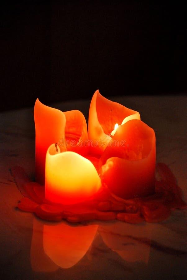 蜡烛火 库存图片