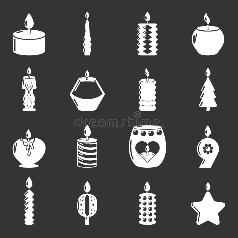 蜡烛灰色形式的象被设置 皇族释放例证