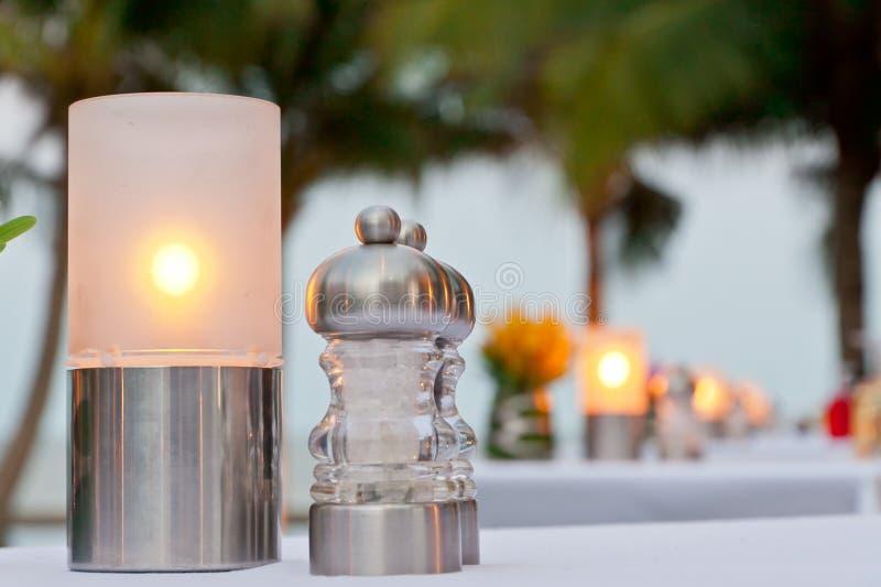 蜡烛焦点光 免版税库存图片