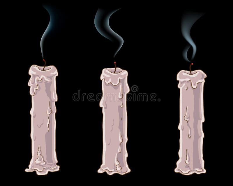 蜡烛熄灭了 向量例证