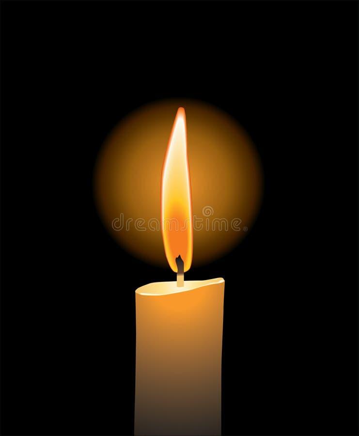蜡烛爱向量 向量例证