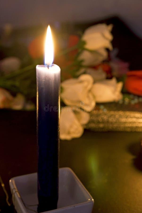 蜡烛玫瑰 免版税库存照片