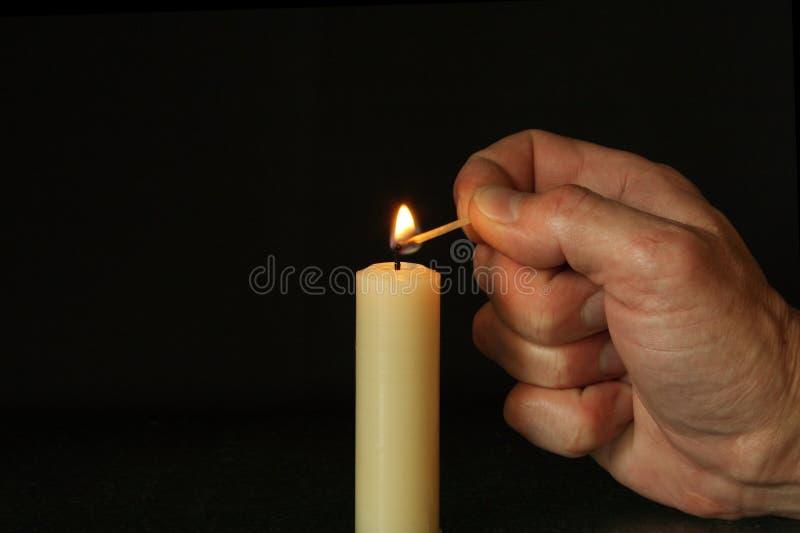 蜡烛现有量照明设备 库存图片