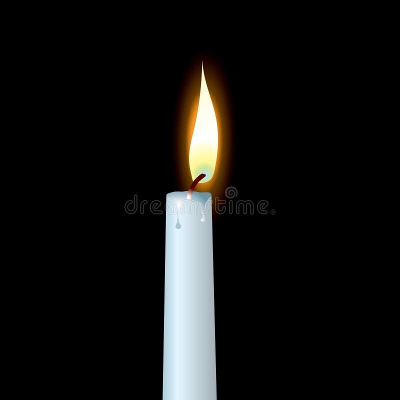 蜡烛白色 库存例证