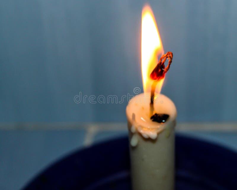 蜡烛的美好的惊人和另外小光在委内瑞拉的Lecheria的  库存照片