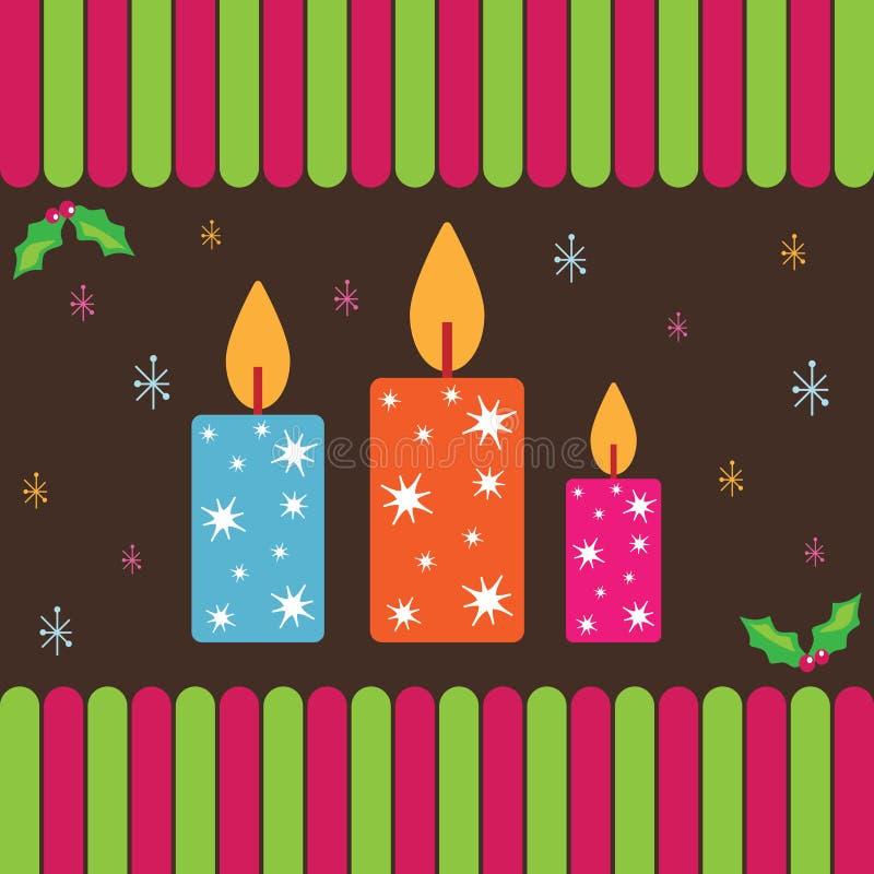 蜡烛看板卡圣诞节 皇族释放例证