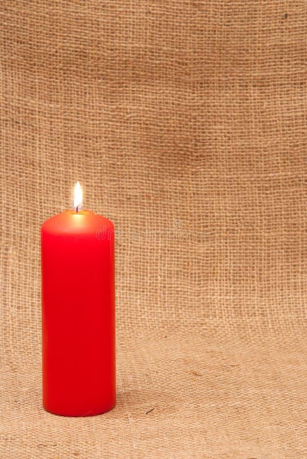 蜡烛红色 免版税库存图片
