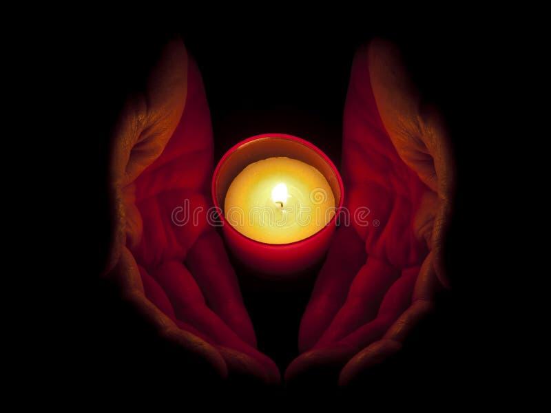 蜡烛递memoriam 库存图片