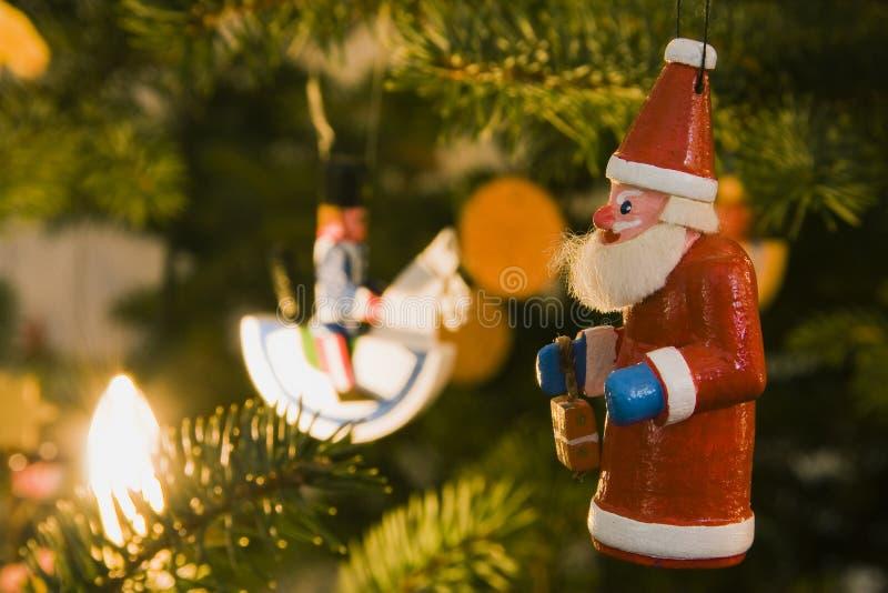 蜡烛骑士克劳斯・圣诞老人 免版税库存照片