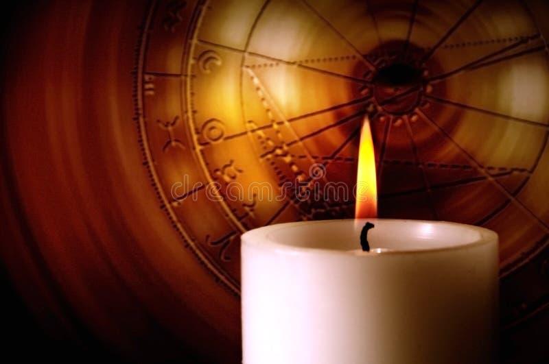 蜡烛黄道带 免版税库存照片