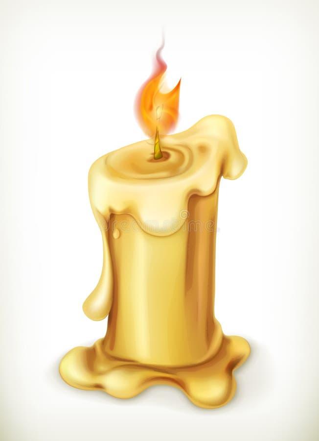 蜡烛,传染媒介象 皇族释放例证