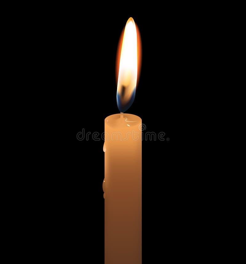 蜡烛 皇族释放例证