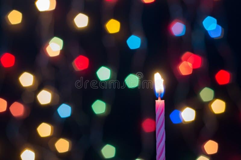 蜡烛Bokeh艺术摘要 库存图片