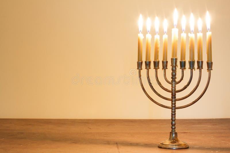 蜡烛menorah 免版税库存图片