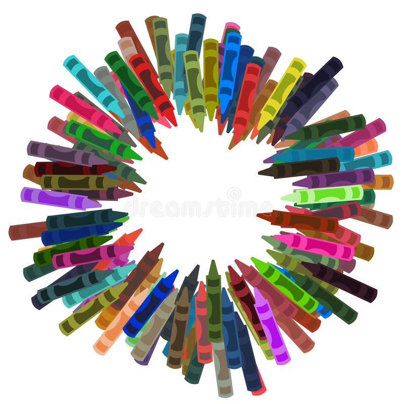 蜡笔框架 库存例证
