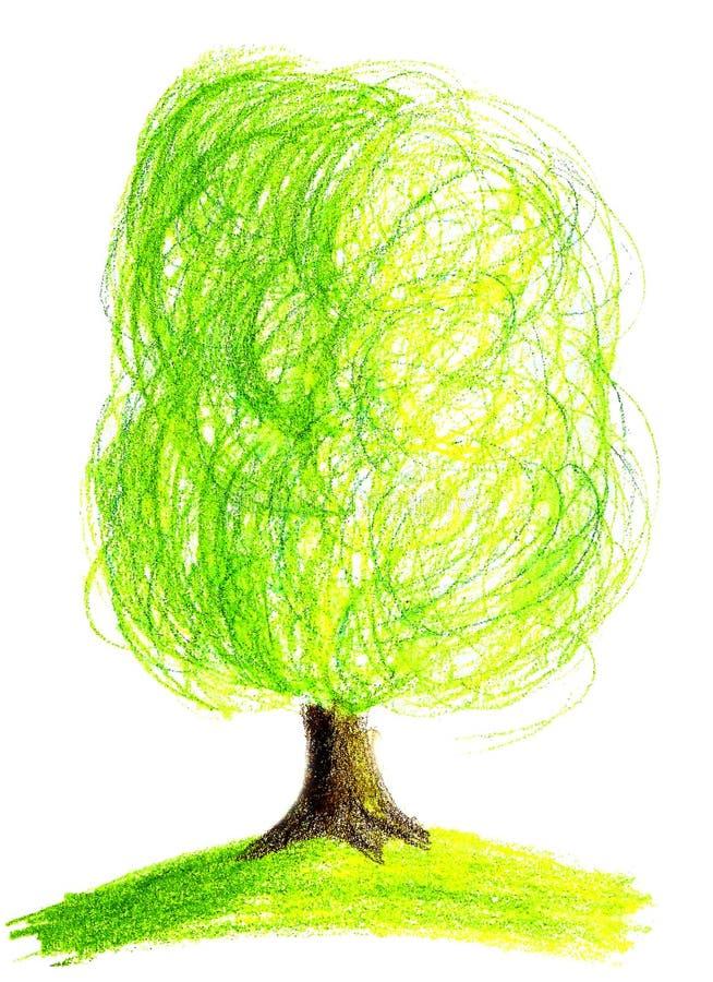 蜡笔结构树 皇族释放例证
