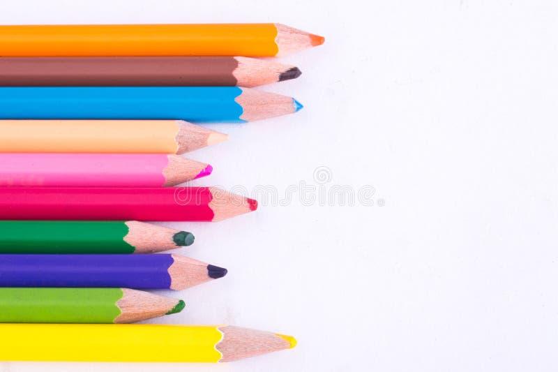 蜡笔颜色 免版税库存图片