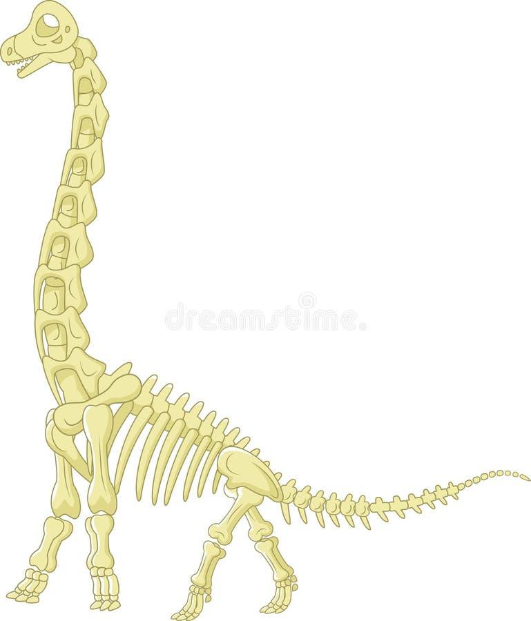 蜥脚类动物骨骼 库存例证