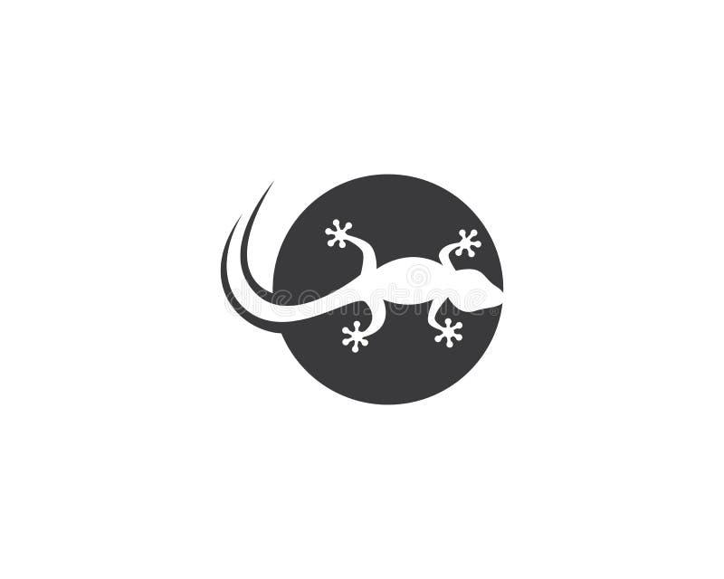 蜥蜴商标模板 库存例证