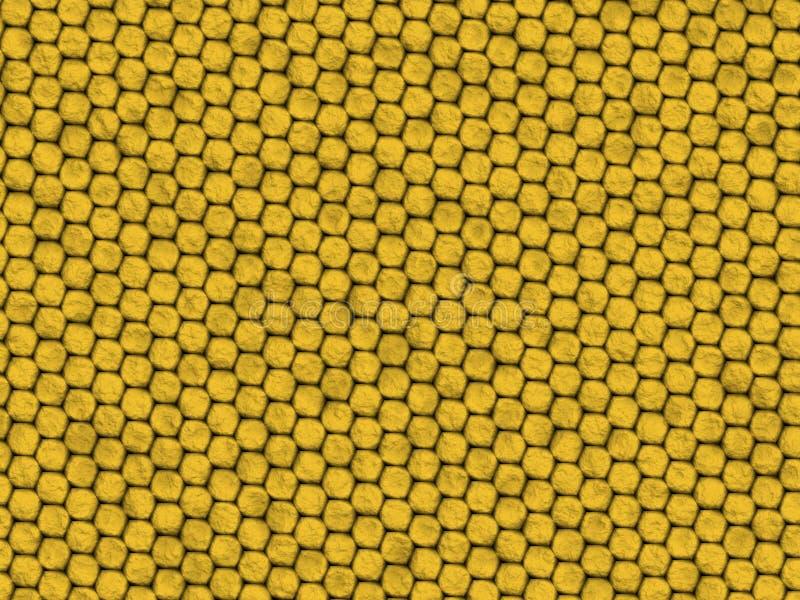 蜥蜴爬行动物纹理黄色 向量例证