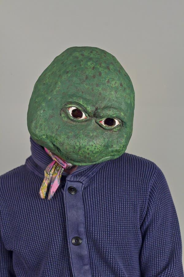 蜥蜴面具毛线衣 免版税库存照片