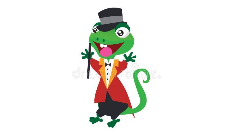 蜥蜴魔术师 库存例证