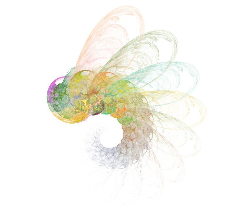 蜻蜓纹理分数维样式 向量例证
