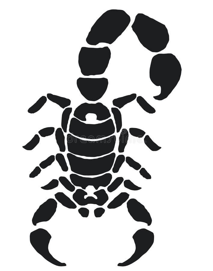蝎子纹身花刺 向量例证