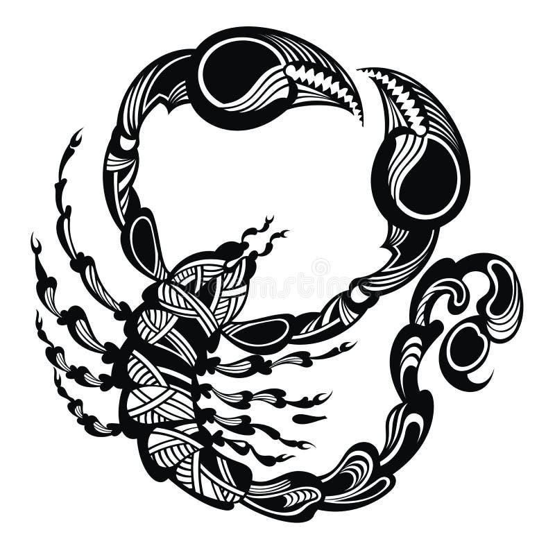 纹身蝎子花刺动物也corel凹道向量例证做室内设计电脑有什么要求图片