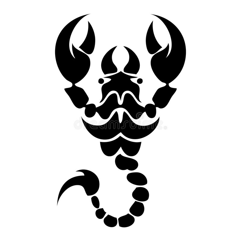 蝎子tatoo 图库摄影