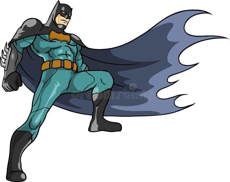 蝙蝠侠准备好对行动高谭市夜  免版税库存照片